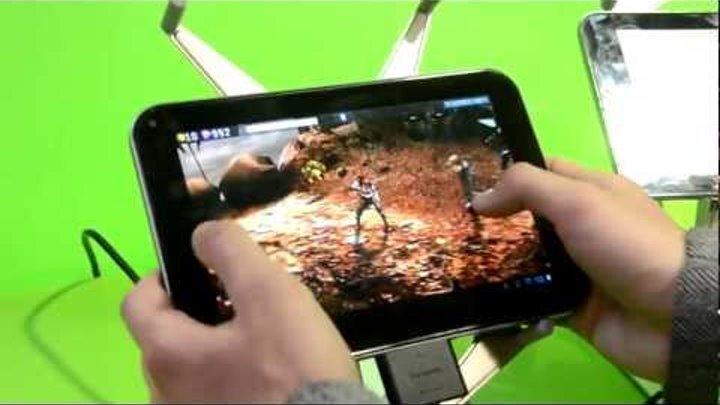 Игры для NVidia Tegra 3 и планшет Toshiba Thrive 7.7 от Droider.ru [MWC 2012]