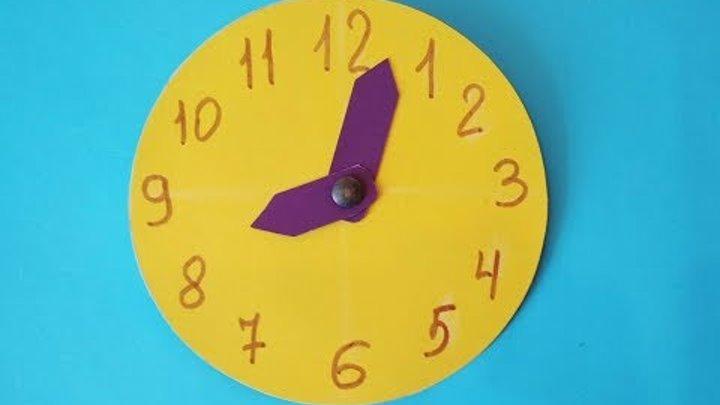 Как сделать часы из картона своими руками. Детские поделки в школу.