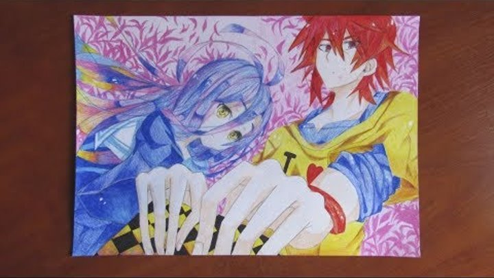 Рисую Сора и Широ из Аниме Нет игры - нет жизни | Draw Soru and Shiro from Anime No game - no life