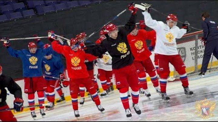 Тренировка сборной перед стартом Кубка Карьяла-2016