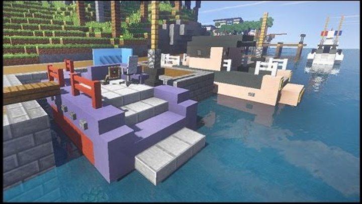 КАТЕР и ПРИЧАЛ в майнкрафт - Серия 26 - Minecraft - Строительный креатив 2