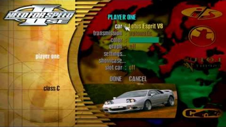 Need for Speed II SE - Menu Tour