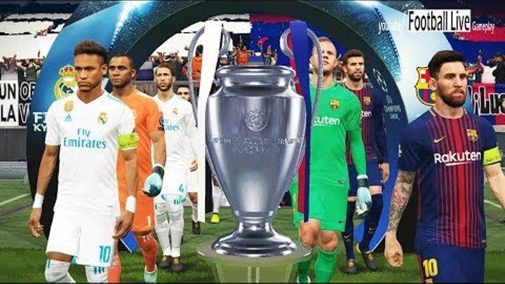 UEFA Champions League Final   Penalty Shootout   FC Barcelona vs Real Madrid   PES 2018 Gameplay PC