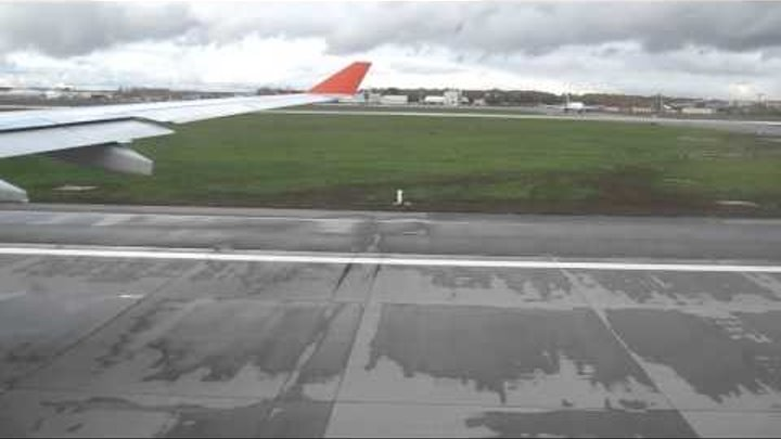 Взлет Airbus 330 с а/п Шереметьево SVO рейс SU333 Москва-Гавана