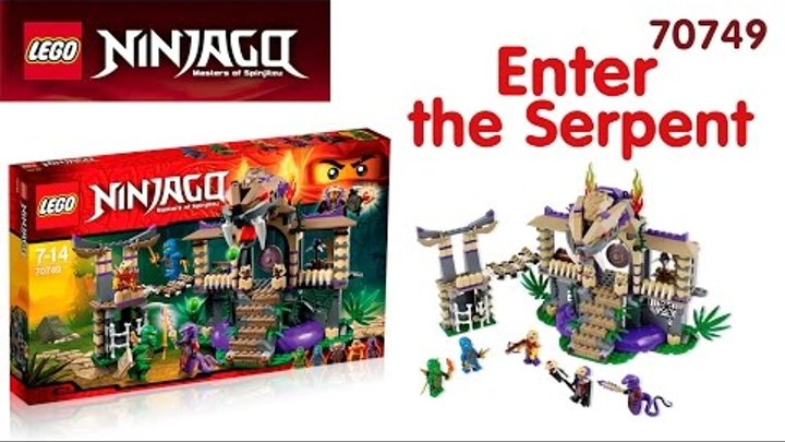 Lego Ninjago 70749 - Храм Клана Анакондрай - Enter the Serpent