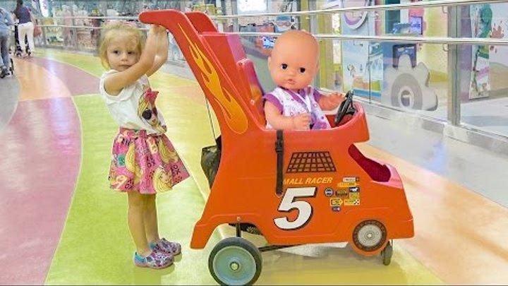 Кукла Беби Борн и Настя КАК МАМА Baby Born doll and little girl play to indoor playground for kids