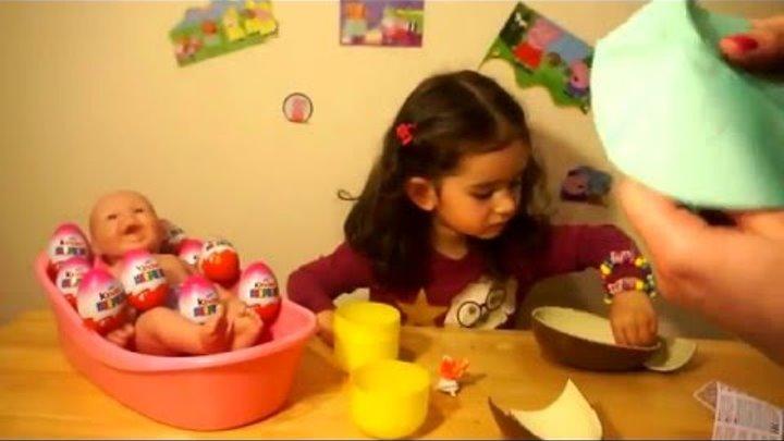 Огромное Шоколадное Яйцо Киндер Сюрприз Распаковка Игрушек Huge Kinder Surprise Unpacking Toys