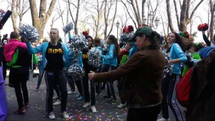 Одесса, 1-е апреля, парад на Дерибасовской! 4 часть!