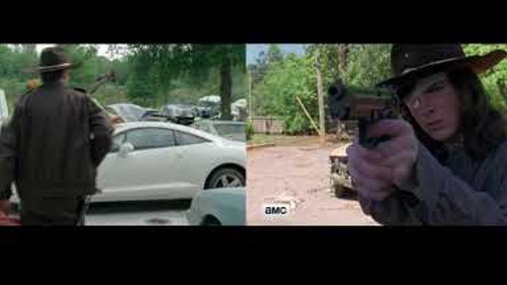The Walking Dead \ Episode 1 & Episode 100 SIDE BY SIDE