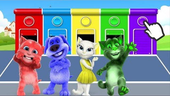 Кот Том Мой Говорящий Том Песенка Семья пальчиков для детей 5 малышей