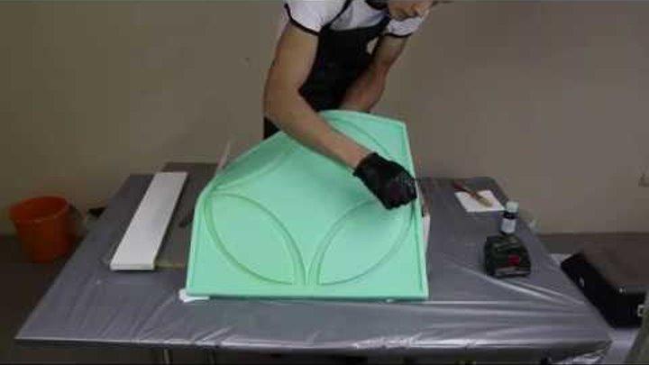 Как сделать форму из полиуретана под 3D панель или камень - ГК KREMEN