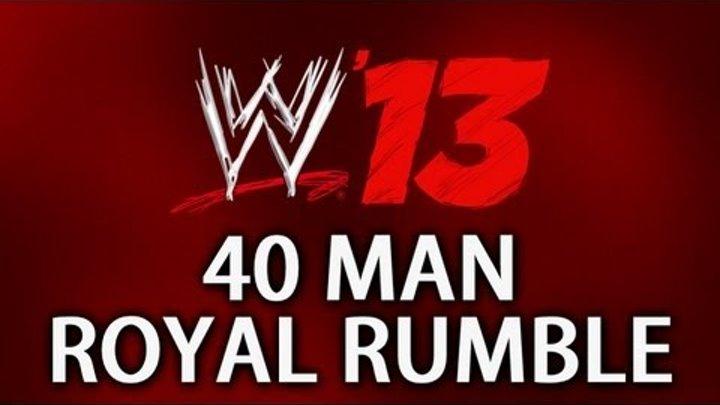 WWE 13 - 40 Man Royal Rumble Match!