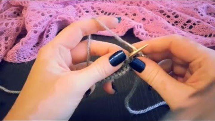 4 накид две петли вместе вязание спицами для начинающих школа