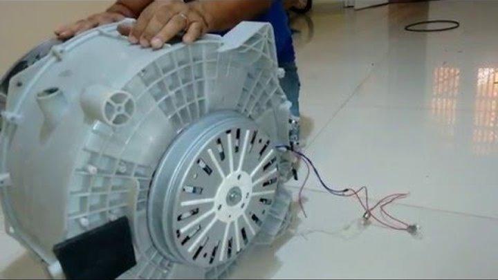COMO FAZER UM GERADOR DE ENERGIA COM MOTOR DE MÁQUINA DE LAVAR - Parte 1