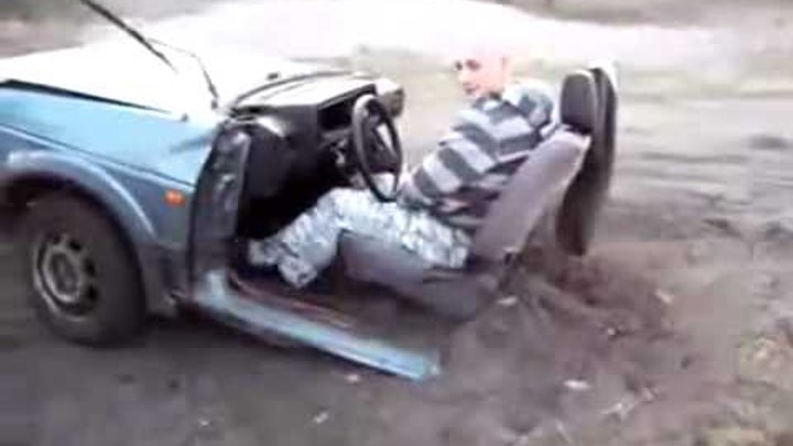 Ever seen someone drive half a car