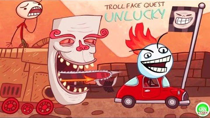 Troll Face Quest Unlucky 2016 Видео игра для детей мультик дети и родители прохождение игры Обзор