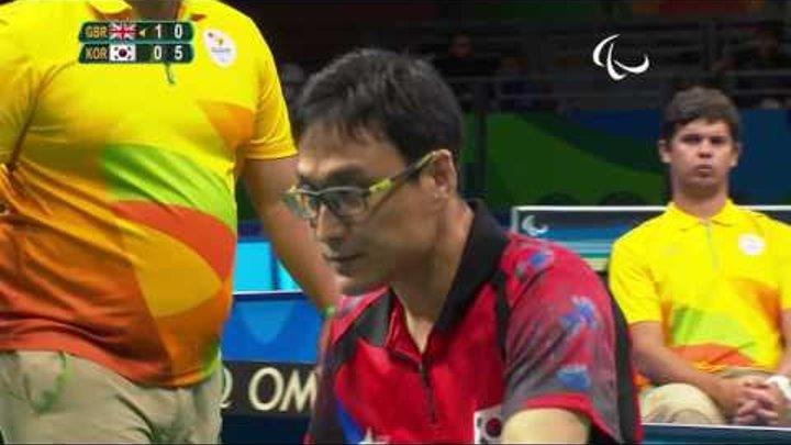 Table Tennis | Great Britain v South Korea | Men's Singles Final Class 1 | Rio 2016 Paralympic Games