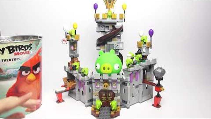 LEGO Angry Birds. Битва Лего Энгри Бердс против свинок. Angry Birds в кино. #188 Lego Обзоры Warlord