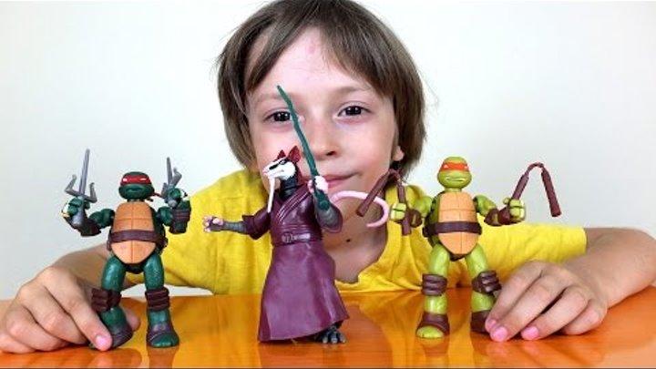 ✿ Черепашки Ниндзя Мутанты игрушки - Поиграем с Арсением - Обзор наборов Черепашки Ниндзя