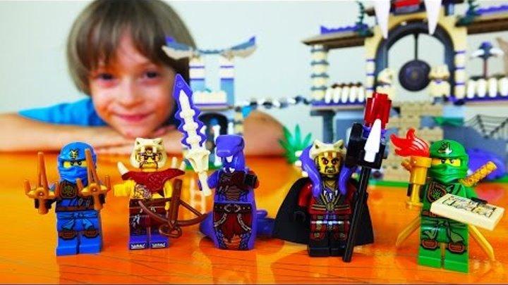 ✌ ВЛОГ Арсения: LEGO NINJAGO Храм Клана Анакондрай. Видео обзор набор 70749