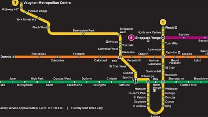 Станция метро в Торонто (Sheppard West)
