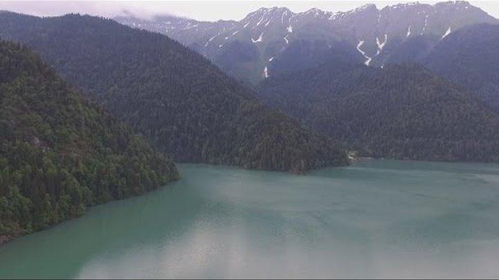 Абхазия 2016.Часть 5. Голубое озеро. Гегский водопад.Озеро Рица.