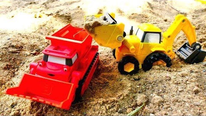 Мультики про машинки на детской площадке — Песочница и Боб-строитель