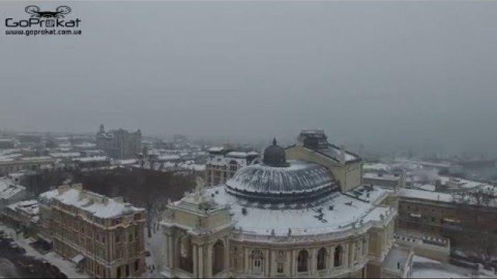 Зимняя Одесса с высоты птичьего полета