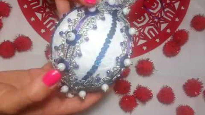 """Поделки к новому году. Новогодние шары в технике """"Артишок"""" своими руками и оформление свечей."""
