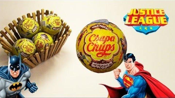 NEW! Justice League Chupa Chups Лига Справедливости, шоколадные шары Чупа-Чупс с супергероями