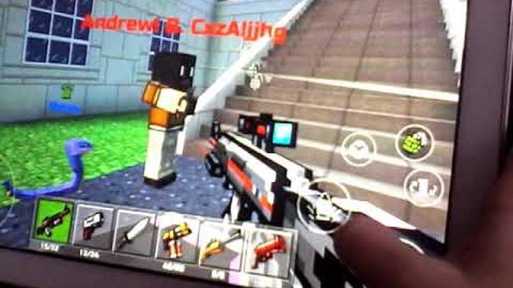 Играю в майнкрафт- стрелялки