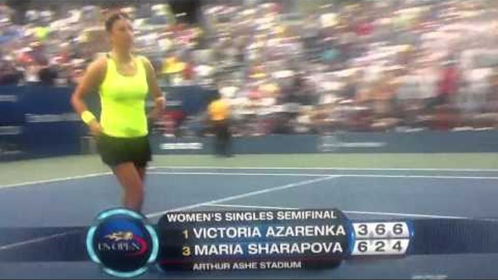 Victoria Azarenka vs Maria Sharapova Us Open 2012 Semi Finals Match Point