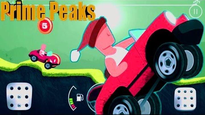 Новая веселая мультик игра для детей 3D ГОНКА PRIME PEAKS ИГРА КАК HILL CLIMB RACING МНОГО МАШИНОК.