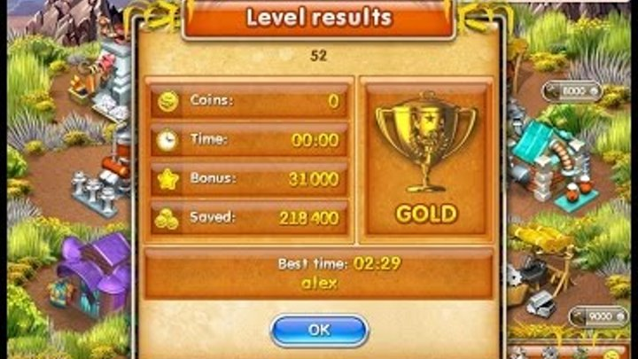 Farm Frenzy 3 American Pie (level 52) only GOLD Веселая ферма 3 Американский пирог Уровень 52 Золото