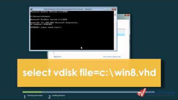 Как установить Windows 8 на виртуальный диск