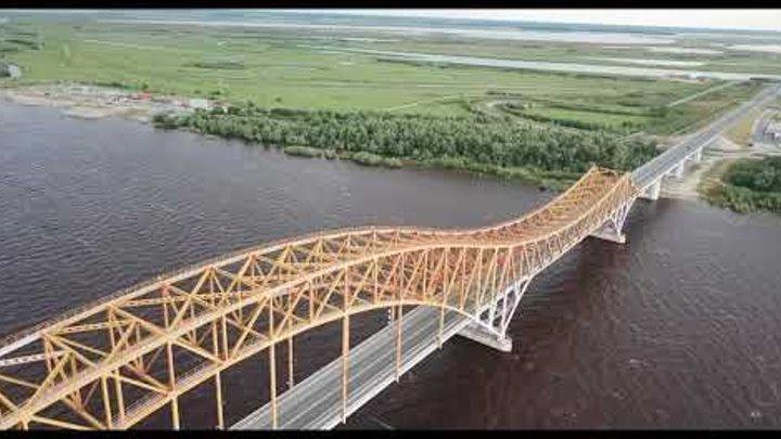 Ханты-Мансийск, Мост Красный дракон, Июль 2018