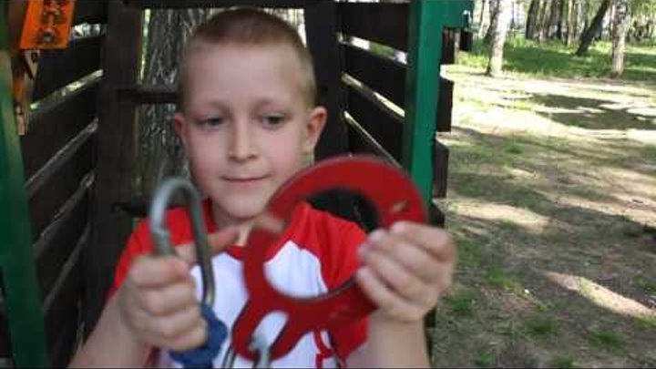 Приключения Человека Паука в канатном парке.Little Spider Man.