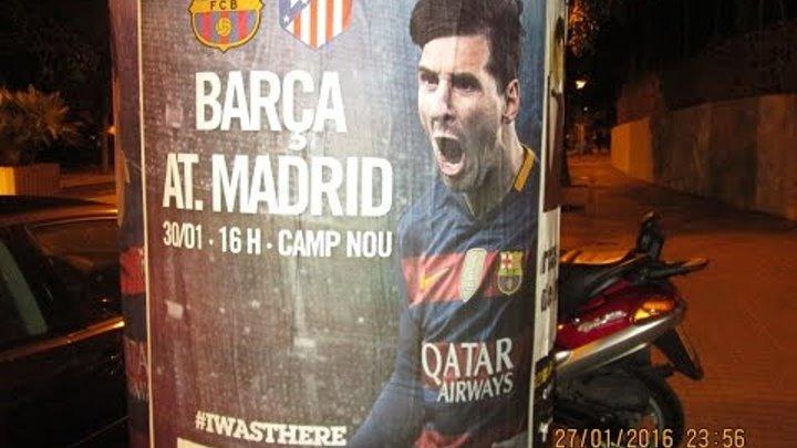 Барса Атлетико Мадрид 2 1, поход на Камп Ноу, 30 01 2016, гол Месси и все опасные моменты