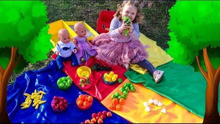 Учим цвета и фрукты на английском языке Играем в прятки Видео для детей