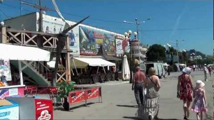 КРЫМ ЯЛТА - Набережная Алушта Крым - Моя Дочь 4 июня 2012