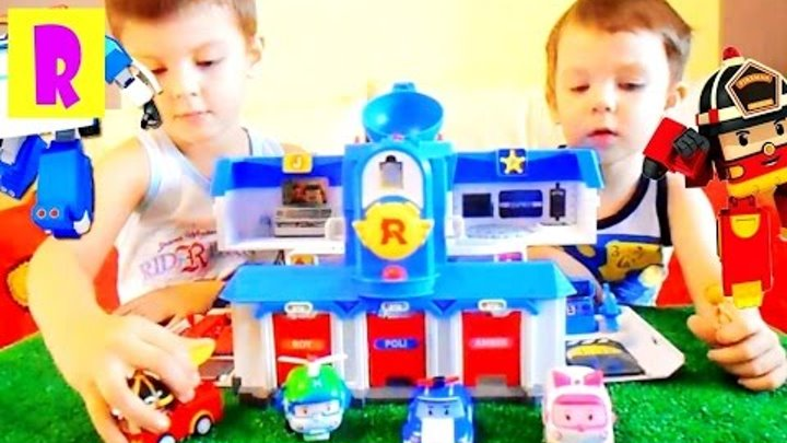 Робокар Поли Станция Машинки игрушки из мультика РобокарПоли и его друзья Cars RobocarPoli HappyRoma