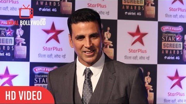Akshay Kumar and Nimrat Kaur | 22nd Annual Star Screen Awards 2016 | Star Plus