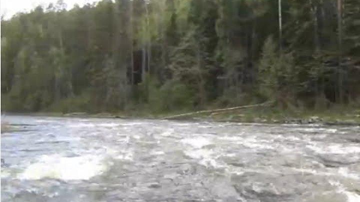 Сплав по реке - Охота рыбалка опасный спуск по порогам горной реки Рудиковка +Экстаежник