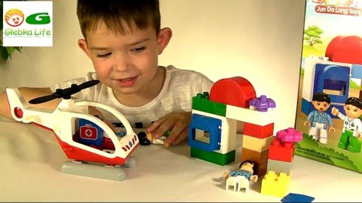 Лего скорая помощь. Конструктор вертолет скорой помощи, аналог Lego Duplo.