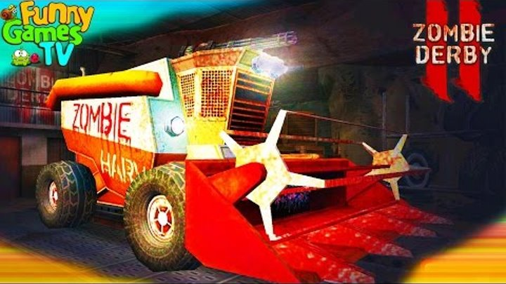Игровой мультик про машинки гадких зомби видео для детей мультфильм про зомби выживание Zombie Derby