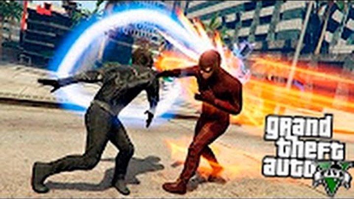 GTA 5 Моды - Черный Флэш против Флэша!