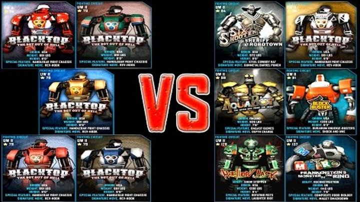 Real Steel WRB Blacktop VS UW II ROBOTS Series Fights | Old School (Живая Сталь)