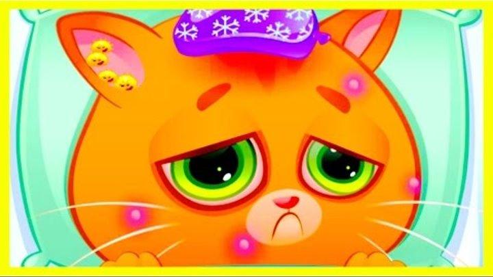 Котенок Бубу заболел ВЕТРЯНКОЙ. Мой виртуальный котик. Bubbu My Virtual Pet. Мультик игра для детей