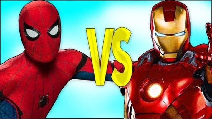 SPIDERMAN VS IRONMAN | СУПЕР РЭП БИТВА | Человек-Паук мультик ПРОТИВ Железный Человек смотреть