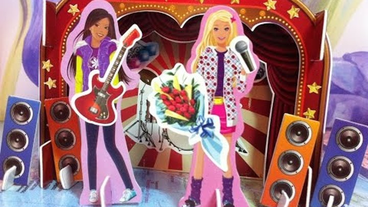 """Делаем 3D пазл """"Барби рок-звезда на сцене"""". Do 3D puzzle """"Barbie rock star on stage."""""""